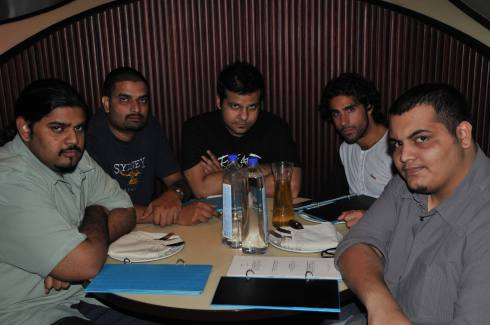 Really focused before the gig at Blue Frog