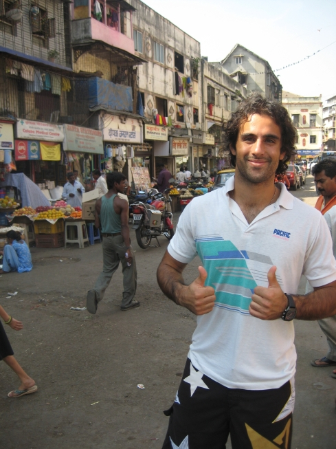 Behind me a little place called Colaba