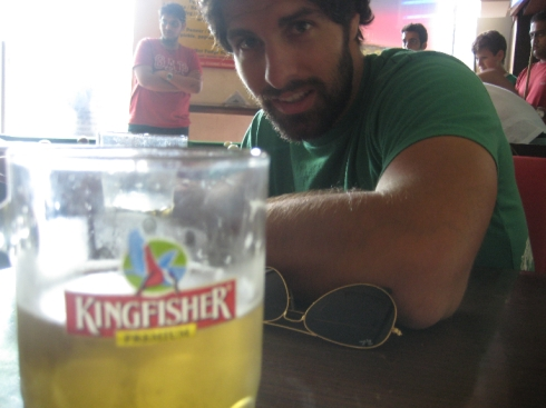 Local beer King Fisher...apparently it's really good, haven't tried it, don't drink...